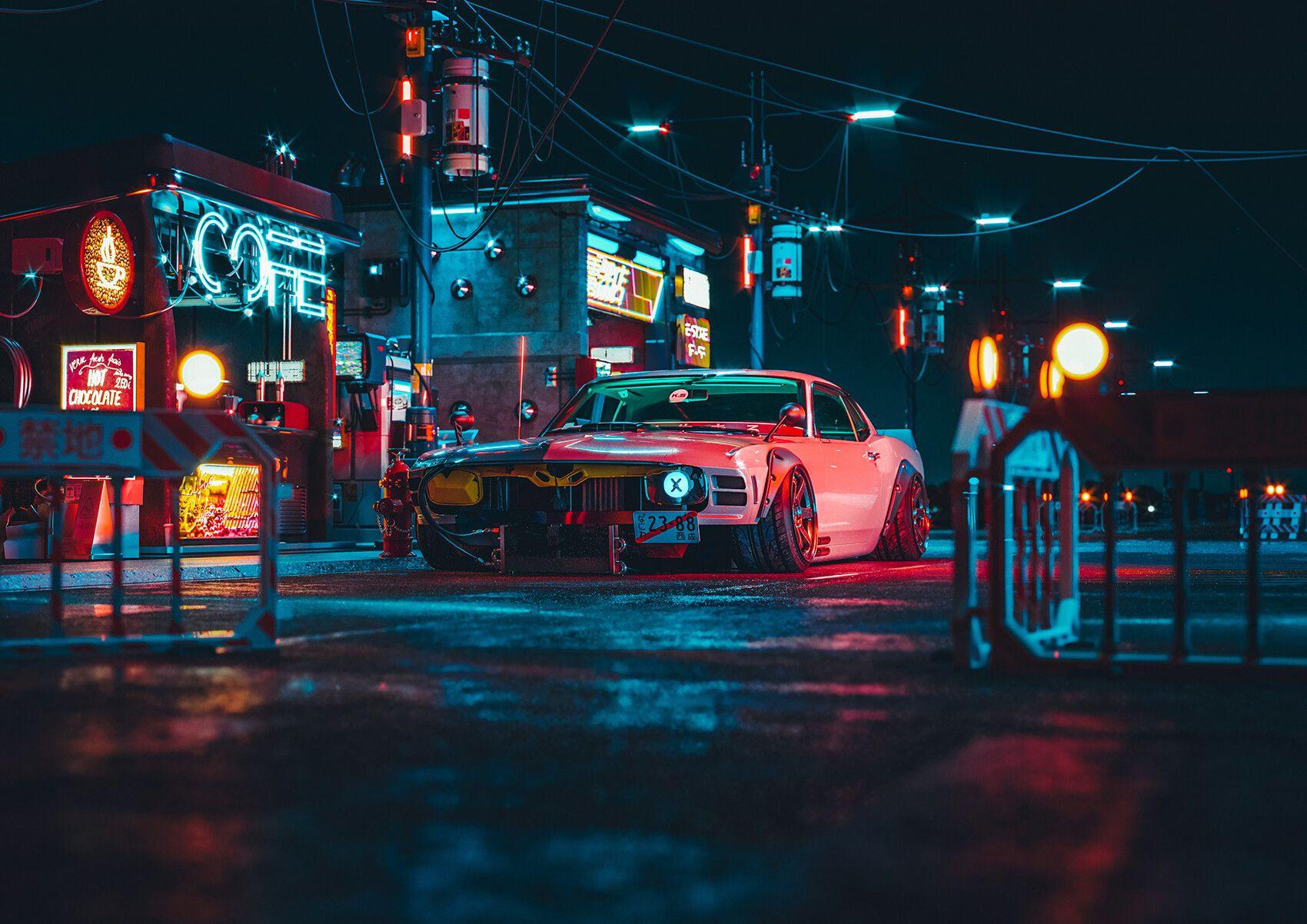 Artstation Shakotan Mustang Take 3 Khyzyl Saleem Mustang Futuristic Cars Neon Car