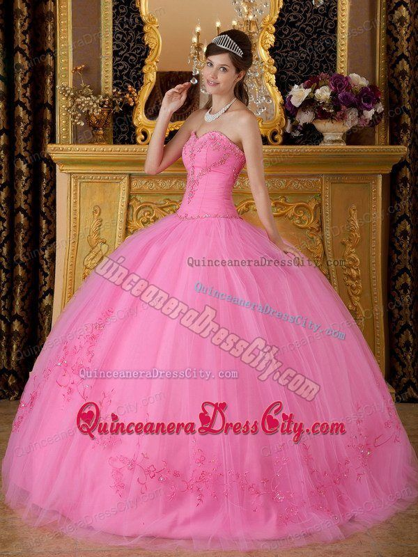 d2e5d78cad32 Buy sweetheart floor length appliques dress for quinceanera in rose pink  from elegant quinceanera dresses collection, sweetheart ball gowns in rose  pink ...