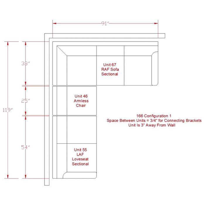 Alenya 3-Piece Sectional in Charcoal | Nebraska Furniture Mart