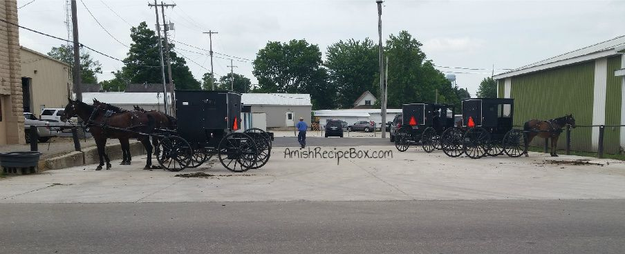 Amish Buggy Parking | Amish Recipe Box | Amish country ...