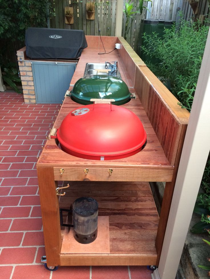 Outdoor Küche Diy How To Build A Weber Grill Table - Woodworking Projects