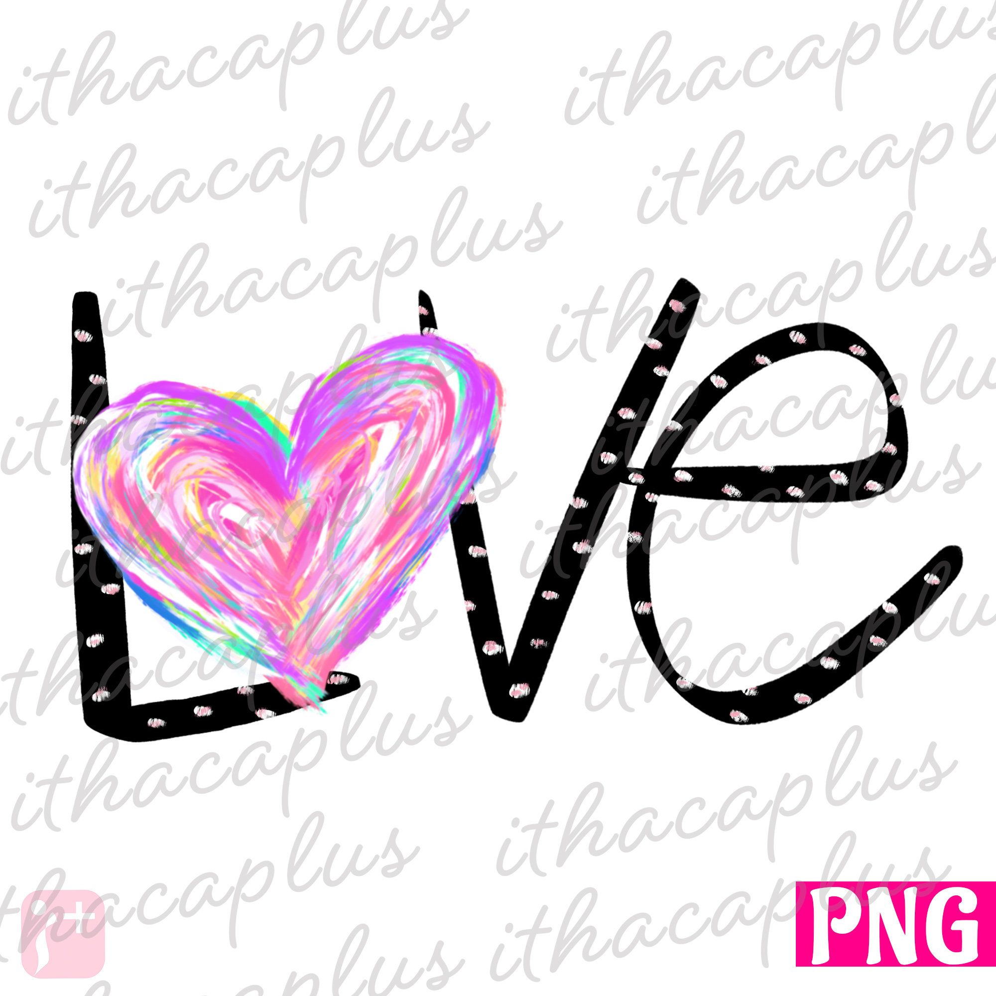 Valentines Day Sublimation Heart Png Colorful Love Clipart Etsy Valentines Day Clipart Valentine Day Love Valentines For Kids