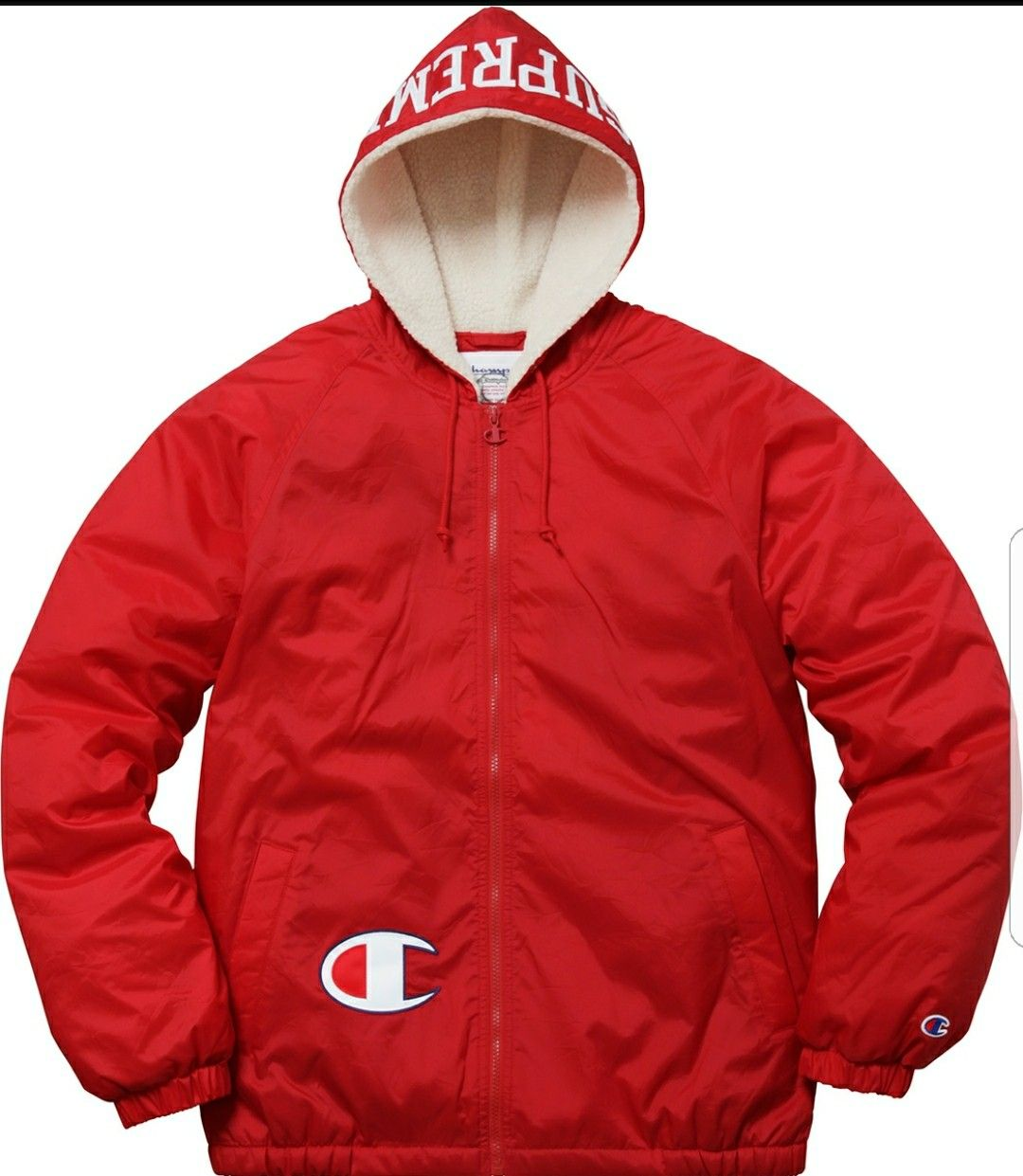 6d9221070 Supreme×Champion Hooded Jacket w Sherpa lining Red | Lasmooove ...