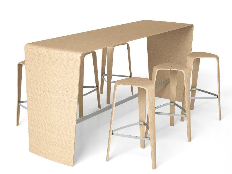 Sgabello alto in legno hoc by brunner design jehs laub design
