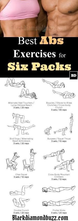 Belly Fat Workout – Best Abs Exercises for Six Packs