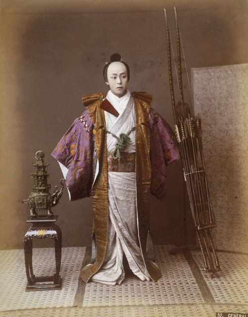 A Japanese general, circa 1865. (Photo by Hulton Archive)