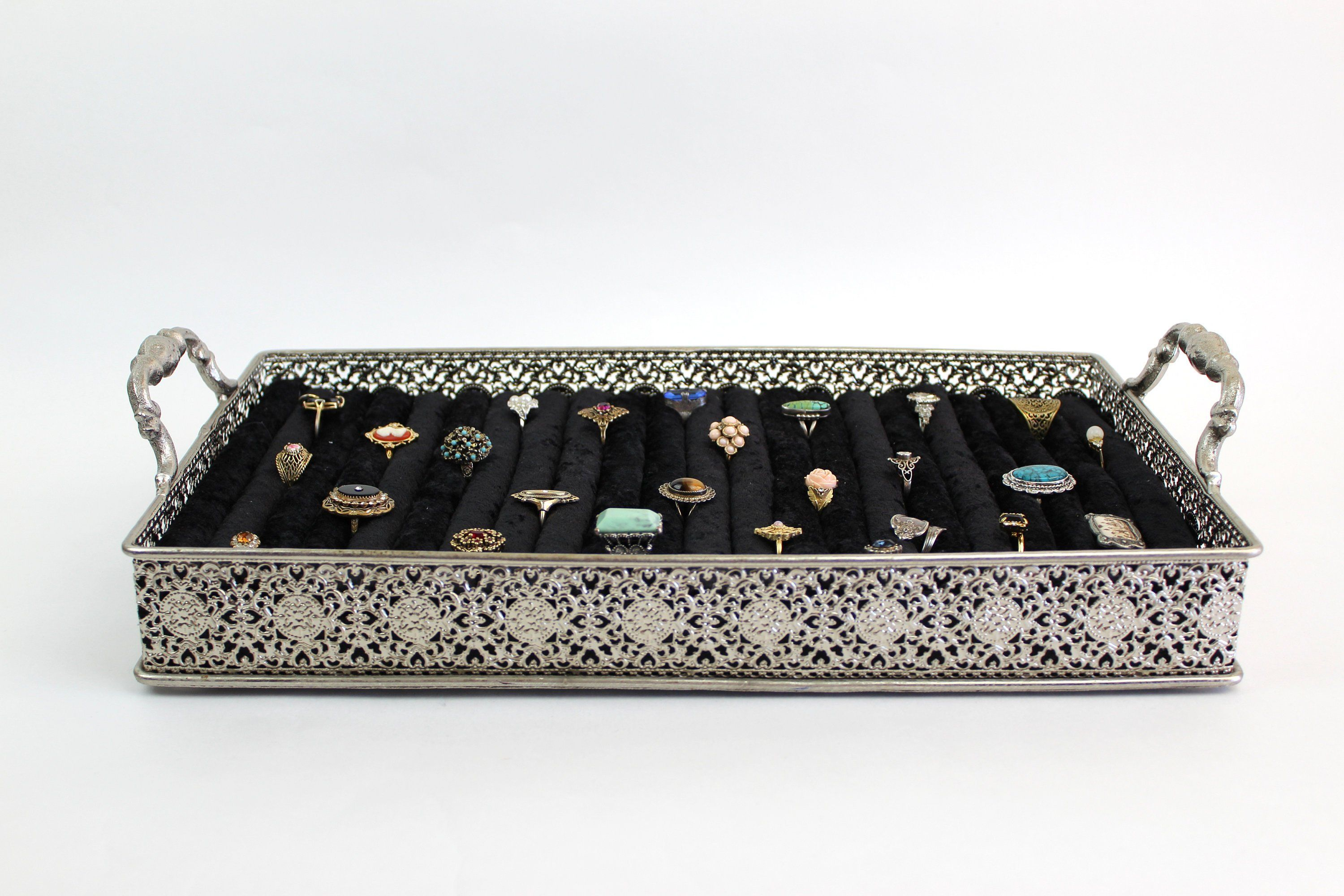 Jewellery Ring Display Ring Stand Holder Jewelry Display Velvet Stand Holder
