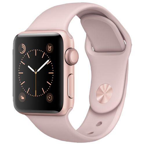 Apple Watch Series 2 38mm Rose Gold Aluminum Case With Pink Sand Sport Band Apple Watch Best Buy Can Rose Gold Apple Watch Buy Apple Watch Gold Apple Watch