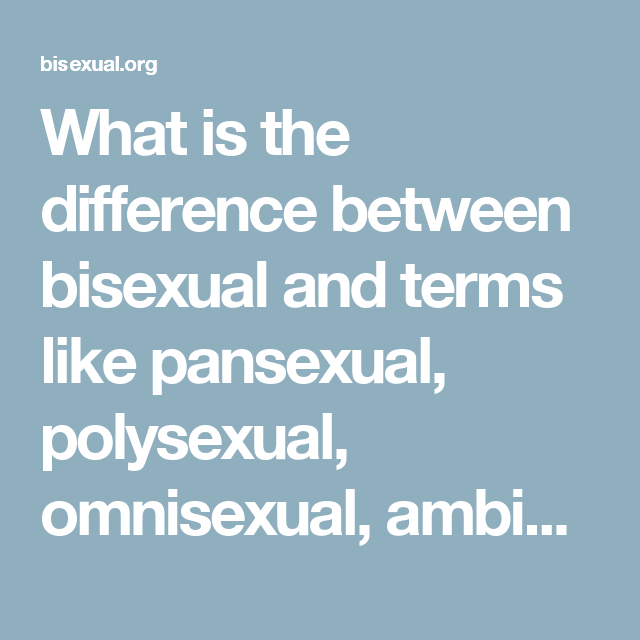 difference between pansexual and