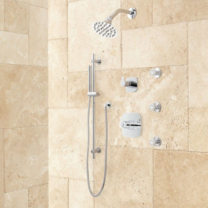 Lindstrom High Flow Shower System with Hand Shower and Body Jets