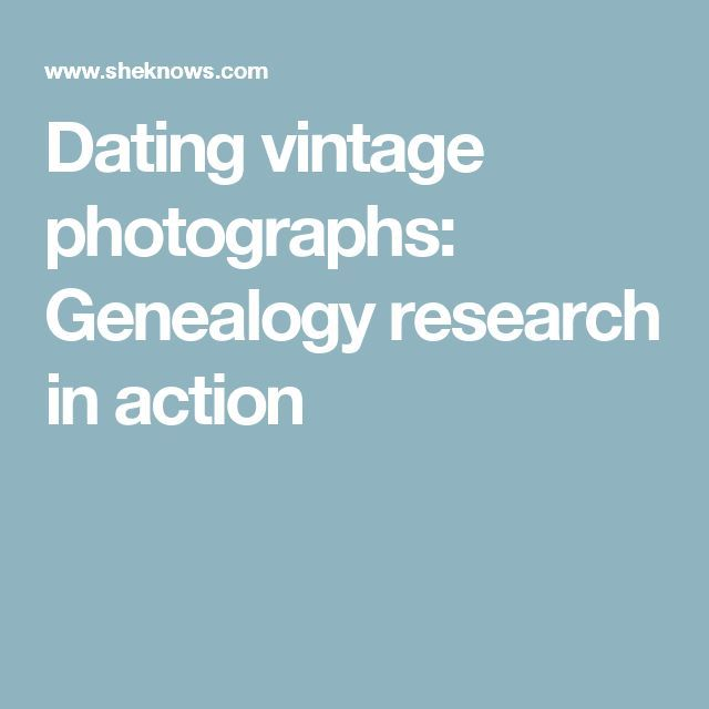 Genealogy dating