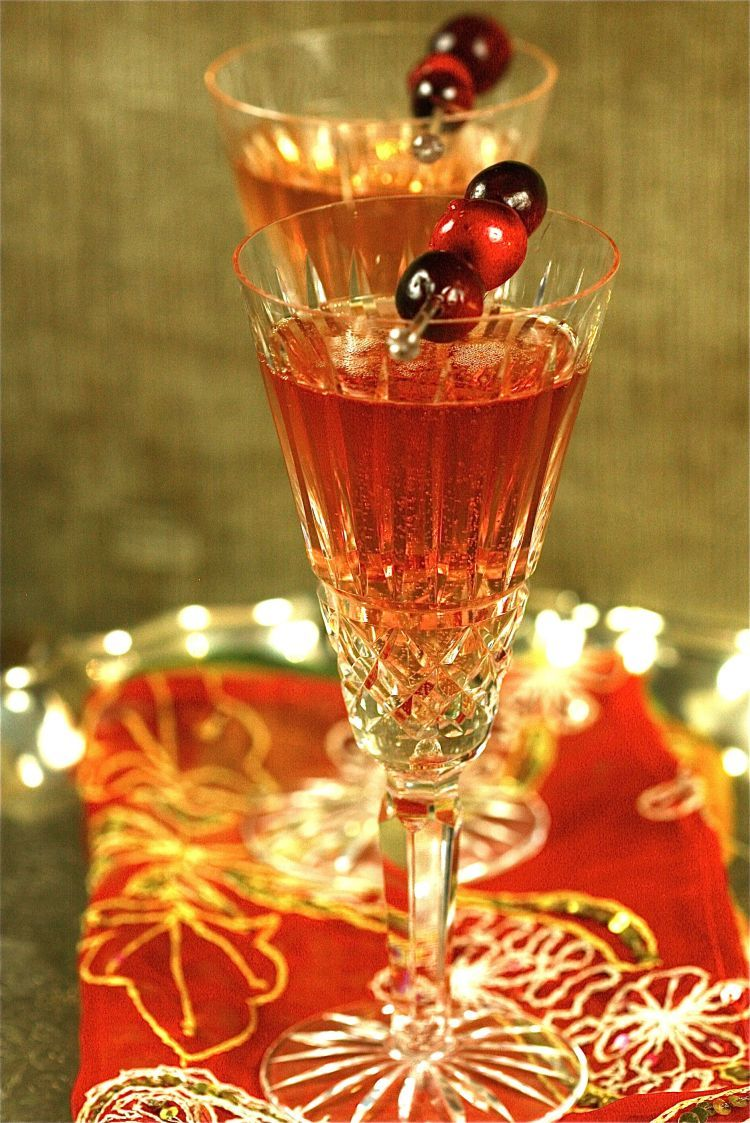 Cranberry champagne cocktail brandy recipe cranberry