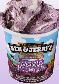 Flavor Of The Week Magic Brownies Ice Cream Black Raspberry Ice Cream Ice Cream Candy