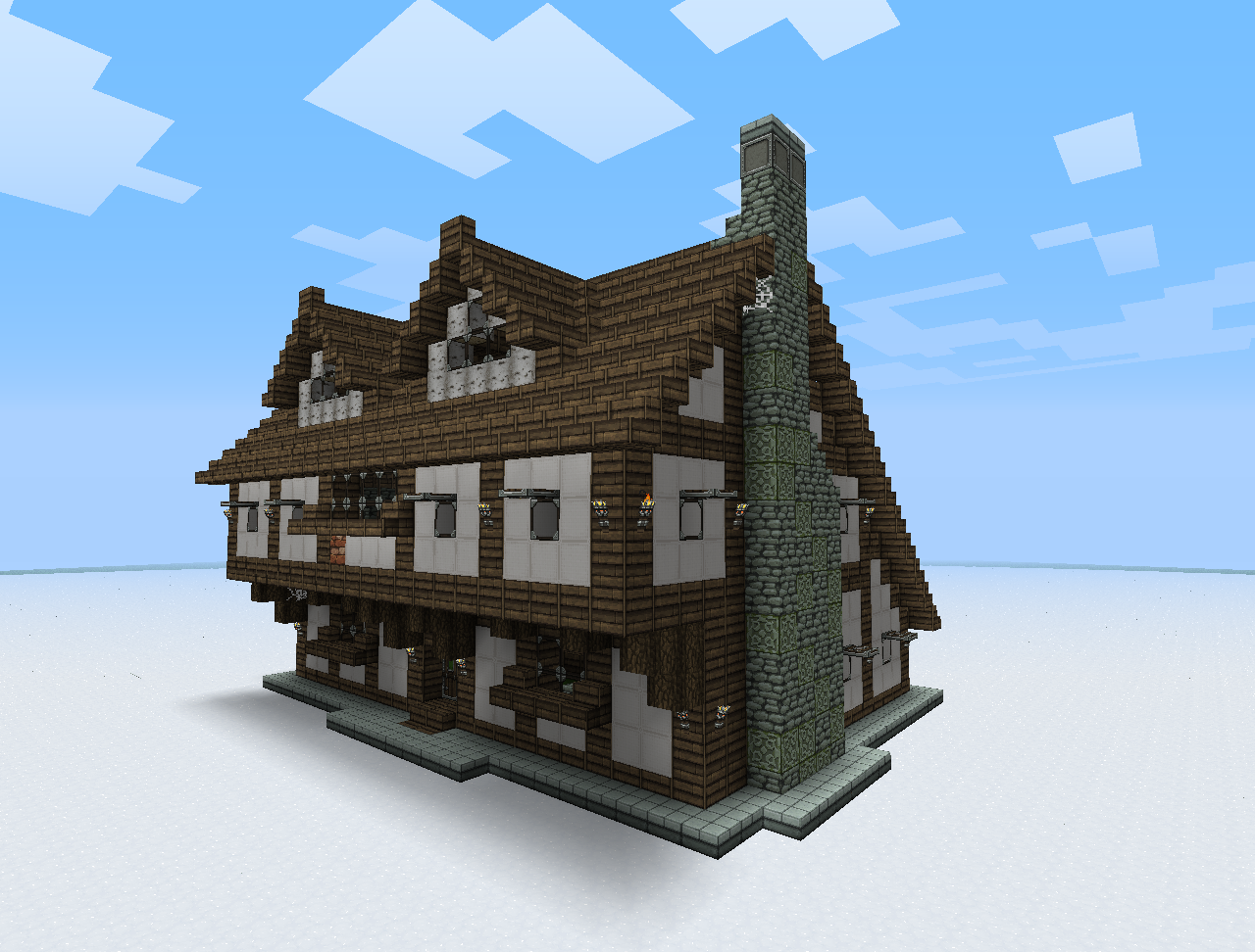 Medieval Maison Minecraft Jeux De Construction Et