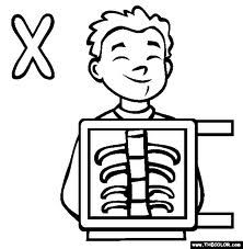 Xray Coloring Page Google Search Alphabet Coloring Pages