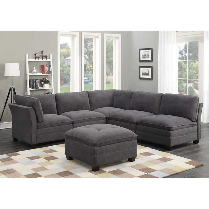 Murphy 6 Piece Fabric Modular Sectional Fabric Sectional Sofas