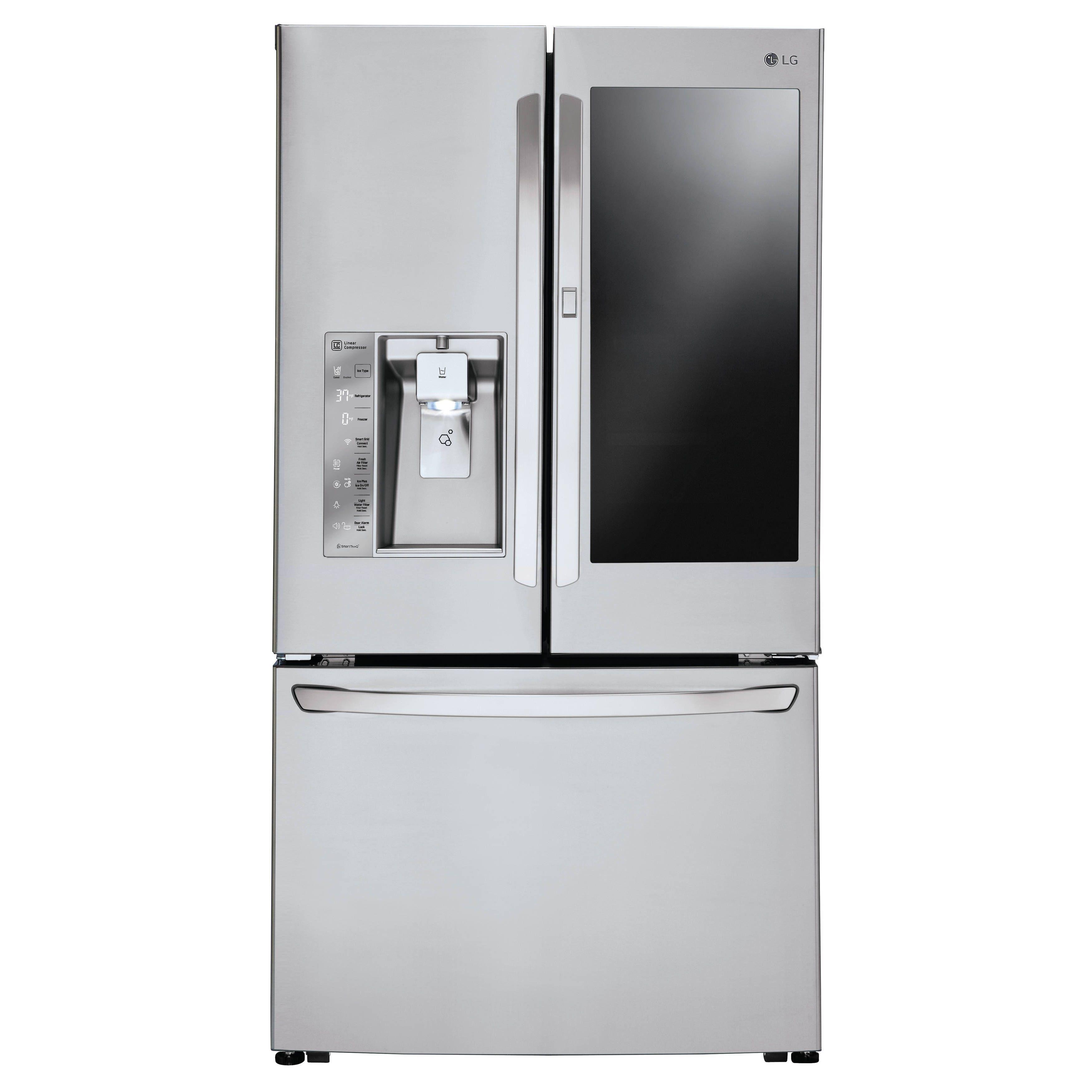 Lg Lfxs30796s 30 Cu Ft Instaview Door In Door Refrigerator In