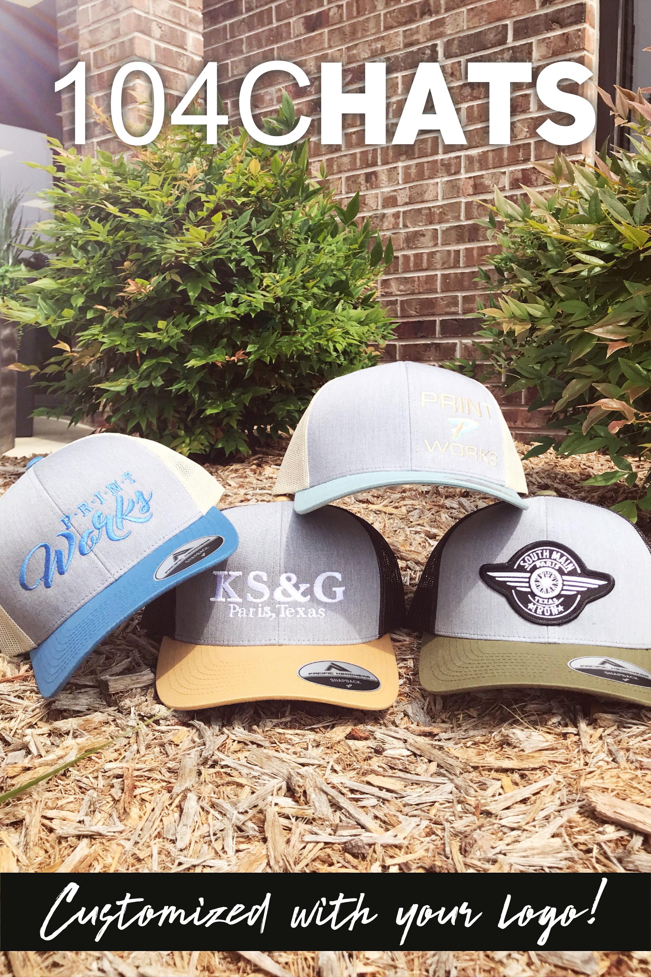 104c Hats Hat Print Trucker Custom Clothes