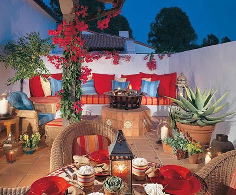 spanish style patio mexicanconnexionfortilecom design talavera handmade - Spanish Style Patio Ideas