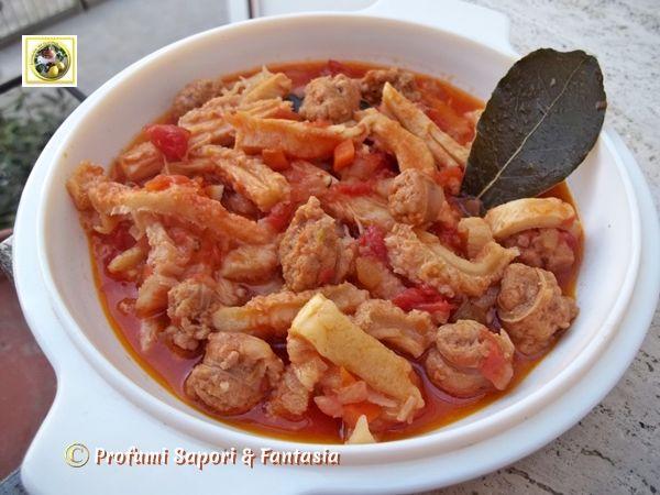 Trippa In Umido Con Salsiccia Piccante Profumi Sapori Fantasia Ricette Ricette Con Trippa Trippa