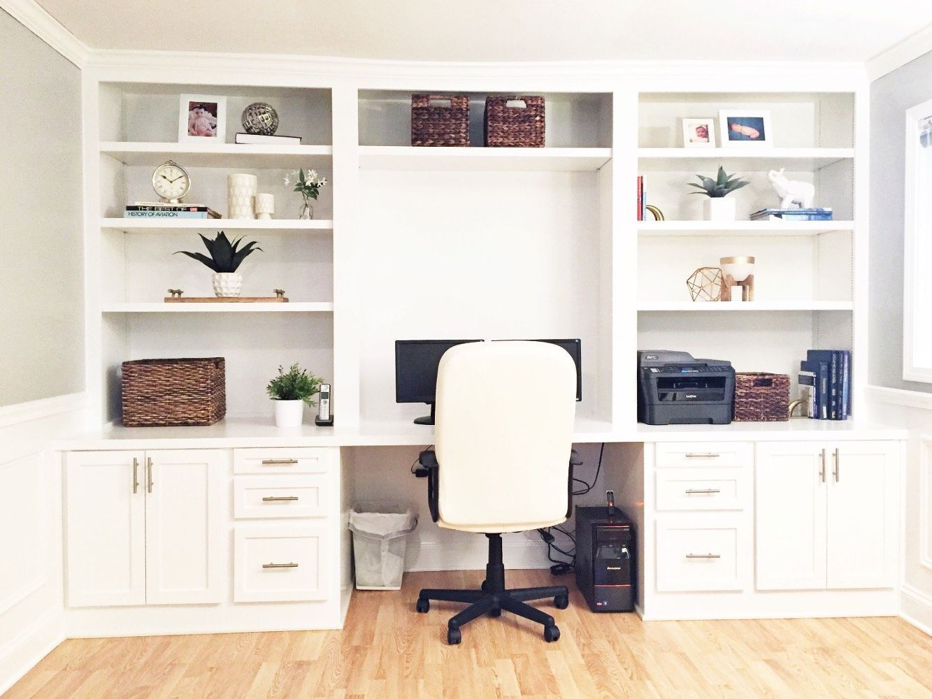 How to Make a Fake Built-In Desk for Less   Pinterest   Idea paint ...