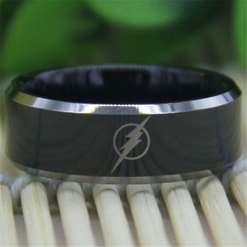 Cheap Sale Free Shipping Top Quality Fine Ring Hot Sales 8MM Black