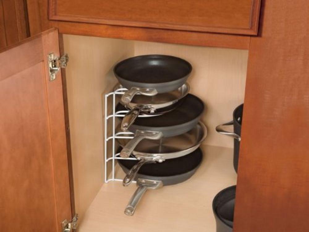 Amazing Kitchen Storage Cabinet Pan Organizer Rack Holder Drawer Shelf Shelves  Pantry In Home U0026 Garden,