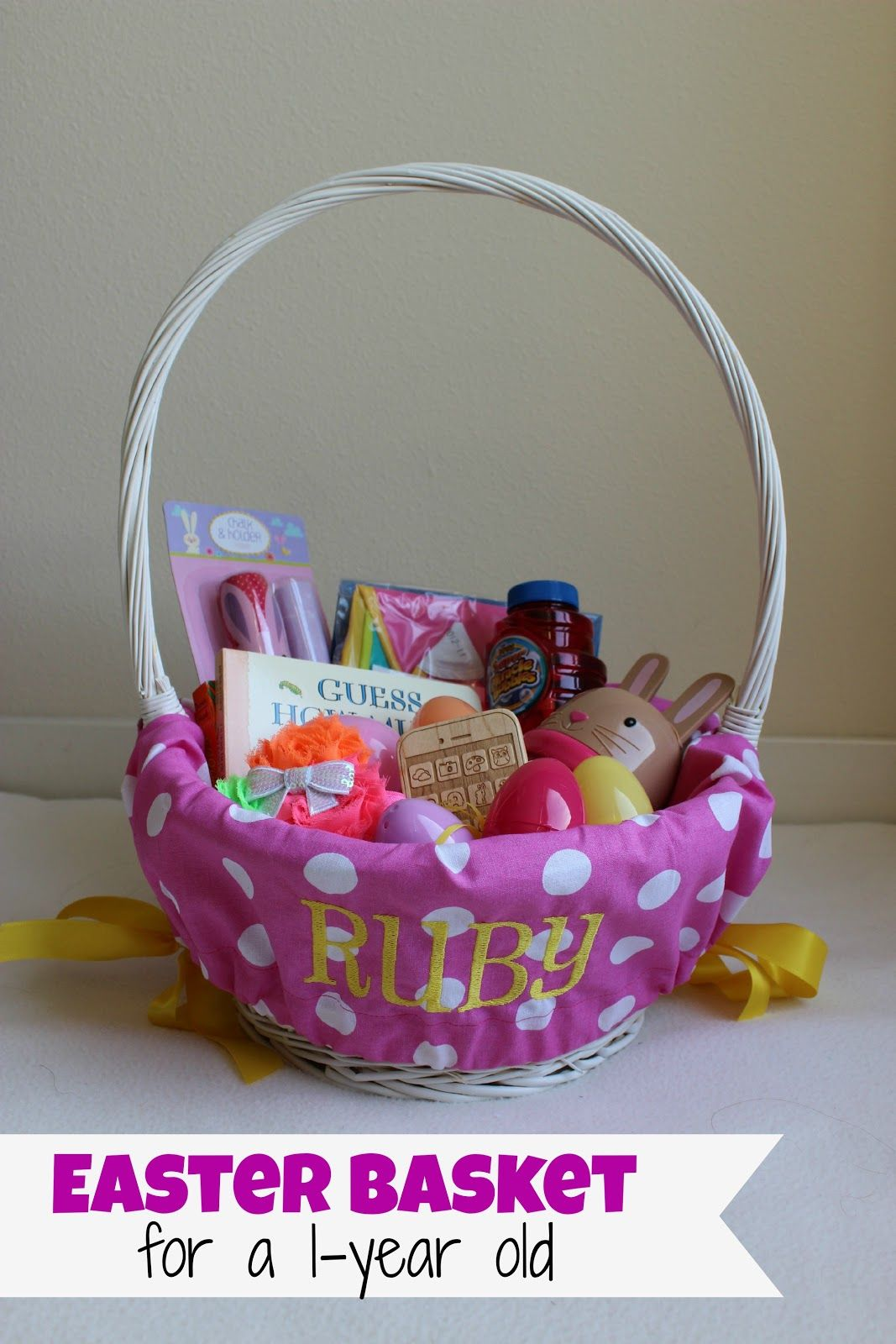 Easter basket for a one year old holidays pinterest easter easter basket for a one year old negle Choice Image