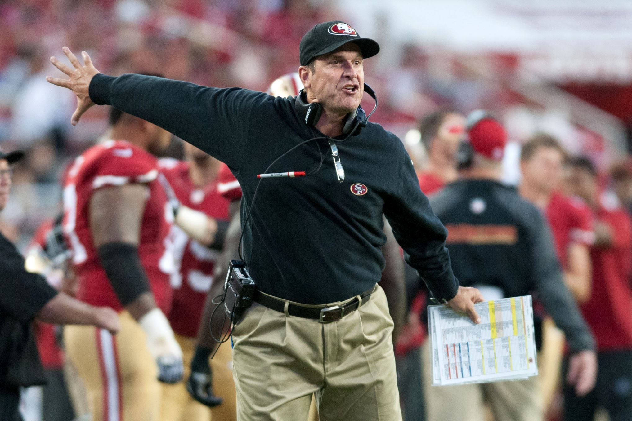 Harbaugh 49ers Split After Final Game Coach Free For Michigan To