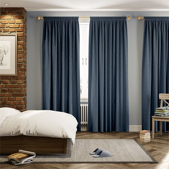 Cavendish Denim Blue Curtains | Bedrooms, Room and Living rooms