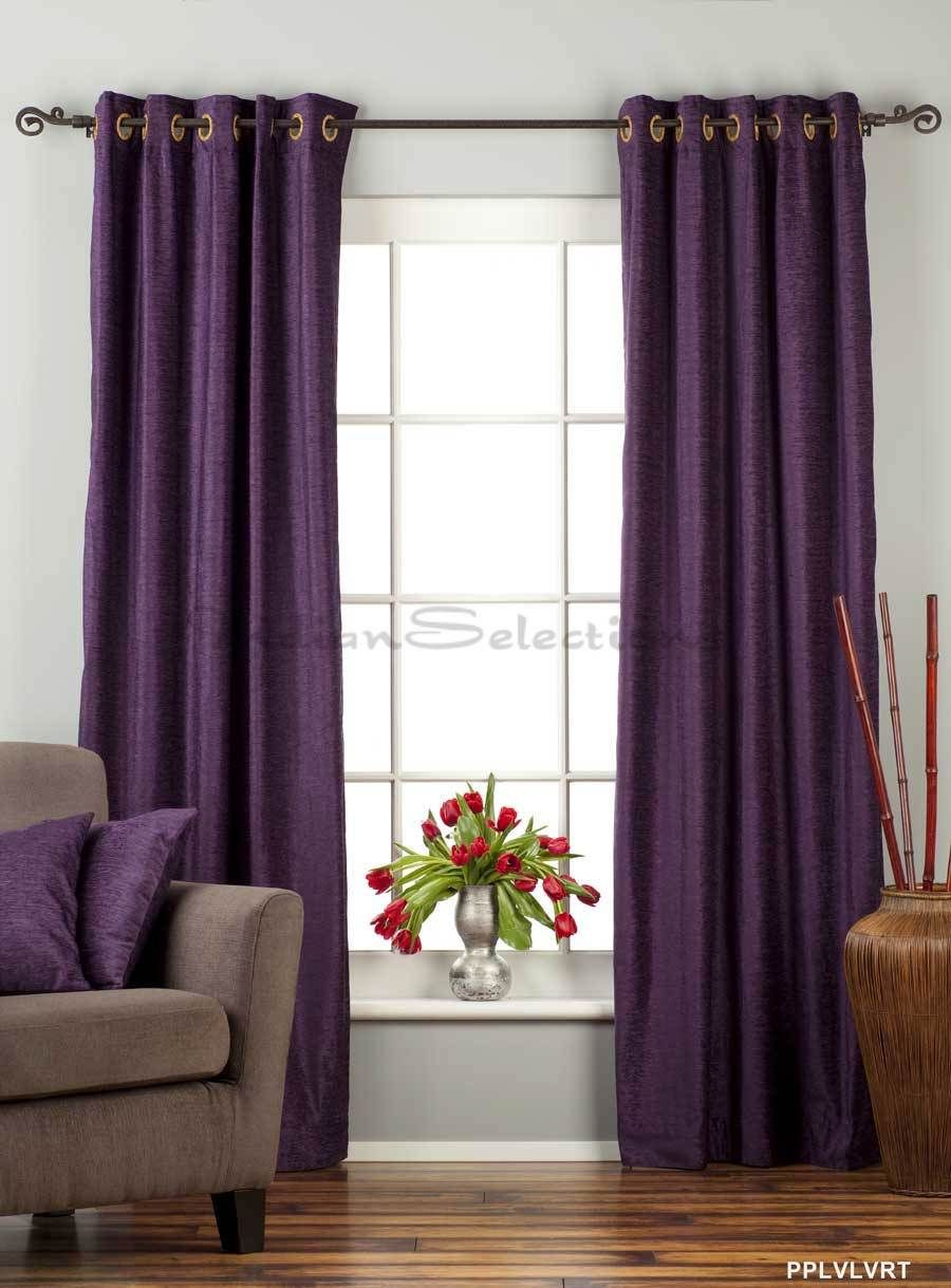 Purple Velvet Curtains Curtains Custom Made Curtains Drapes Curtains
