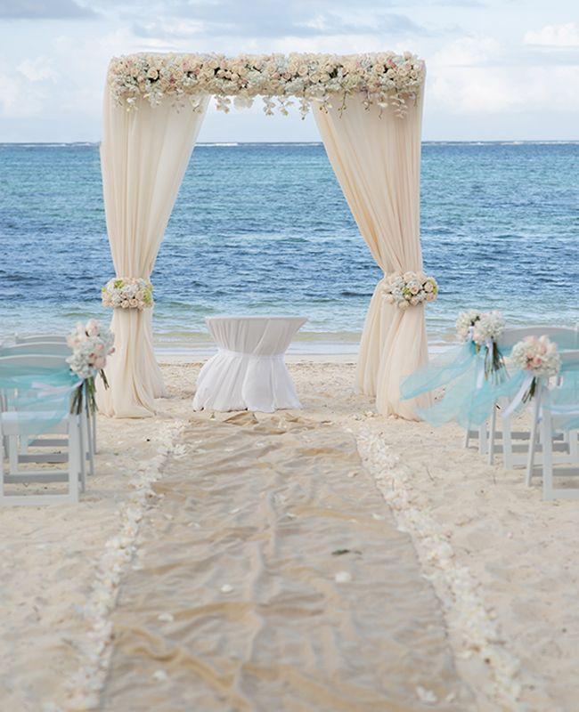 Elegant Caribbean Beach Wedding Arch By Weddings Romantique