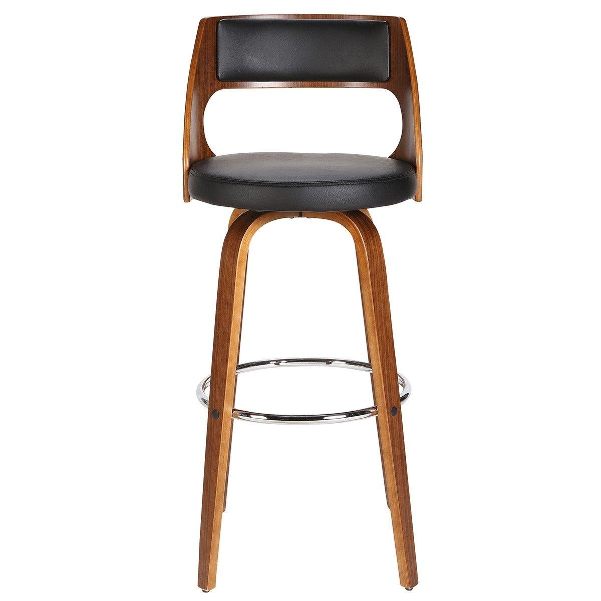 Fine Brakel Wooden Swivel Counter Stool With Pu Seat Black Uwap Interior Chair Design Uwaporg
