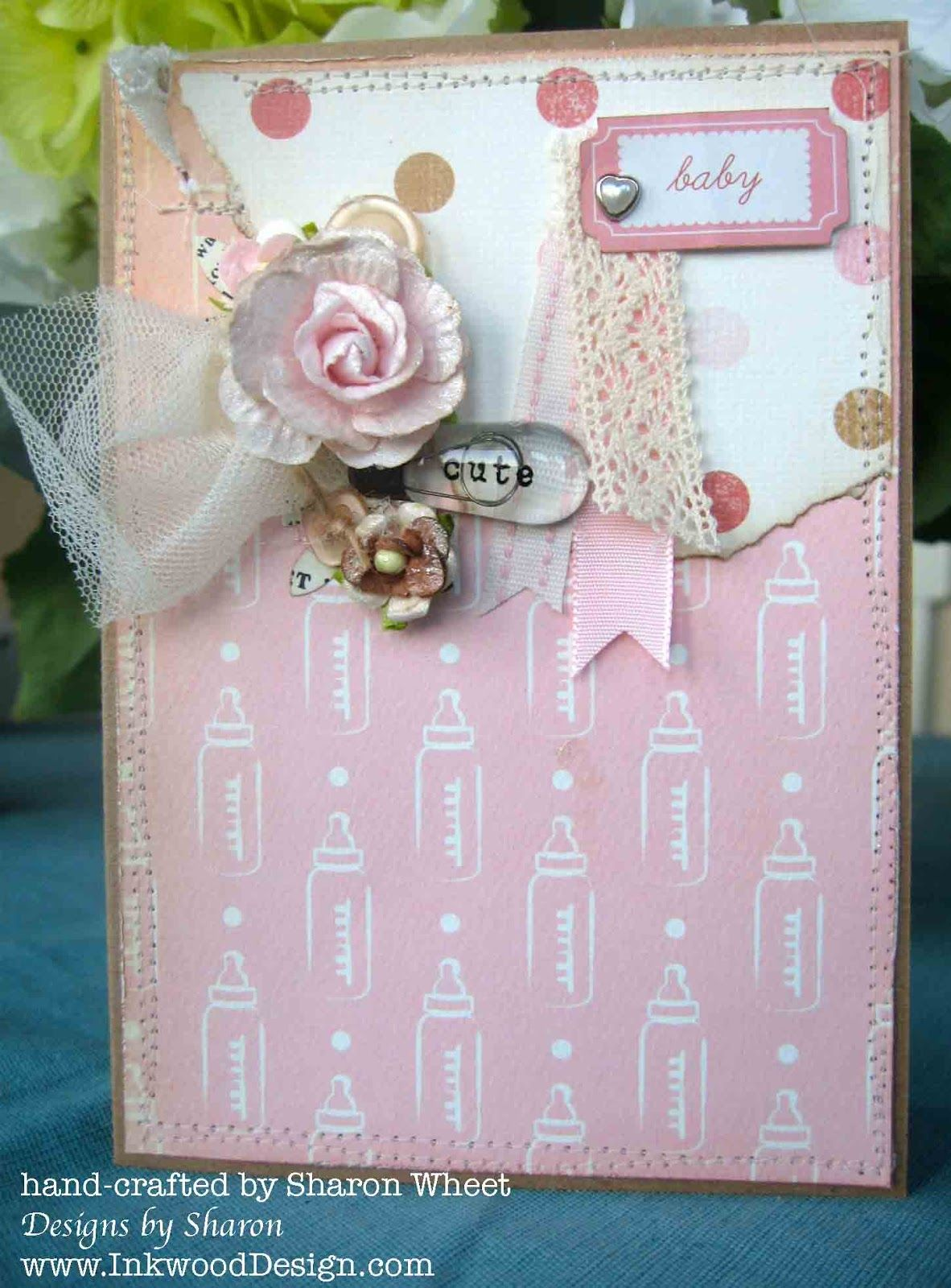 Designs by sharon cute baby card scan n cut pinterest baby