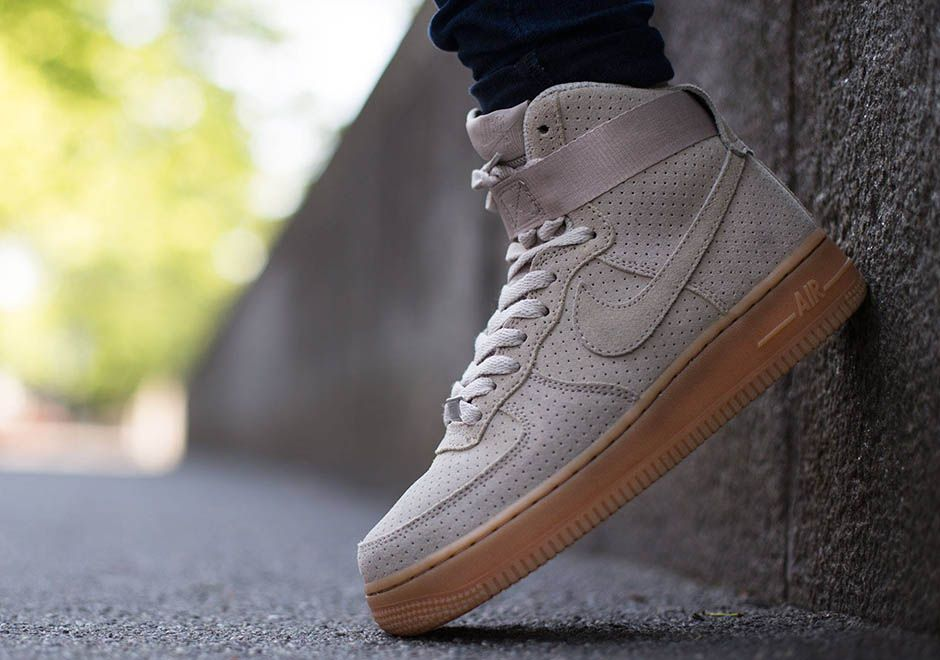 nike air force 1 grey suede high boots