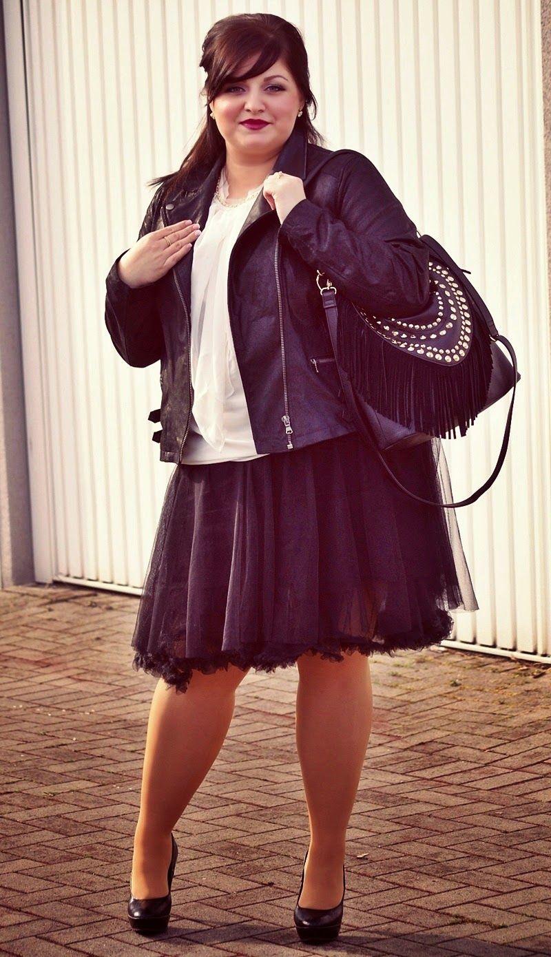 CONQUORE · The Fatshion Café   Plus Size Blog: Leather & tulle · plus size outfit