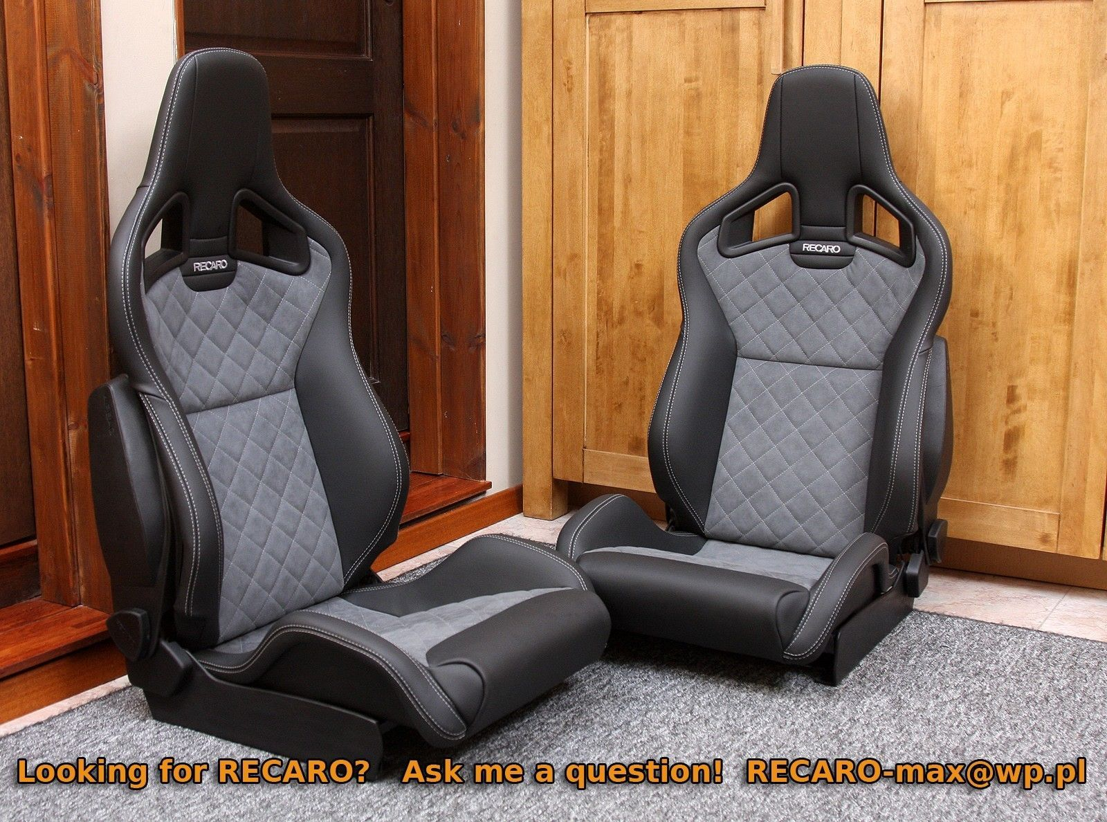 details about recaro sportster cs airbag many options bmw sti evo porsche mustang r8 etc. Black Bedroom Furniture Sets. Home Design Ideas
