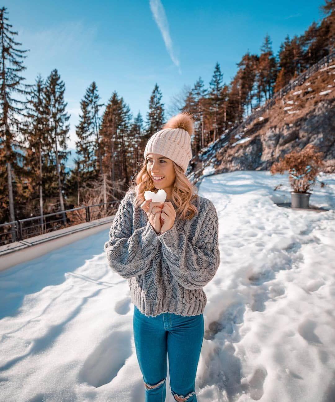 Идеи для зимней фотосессии в горах