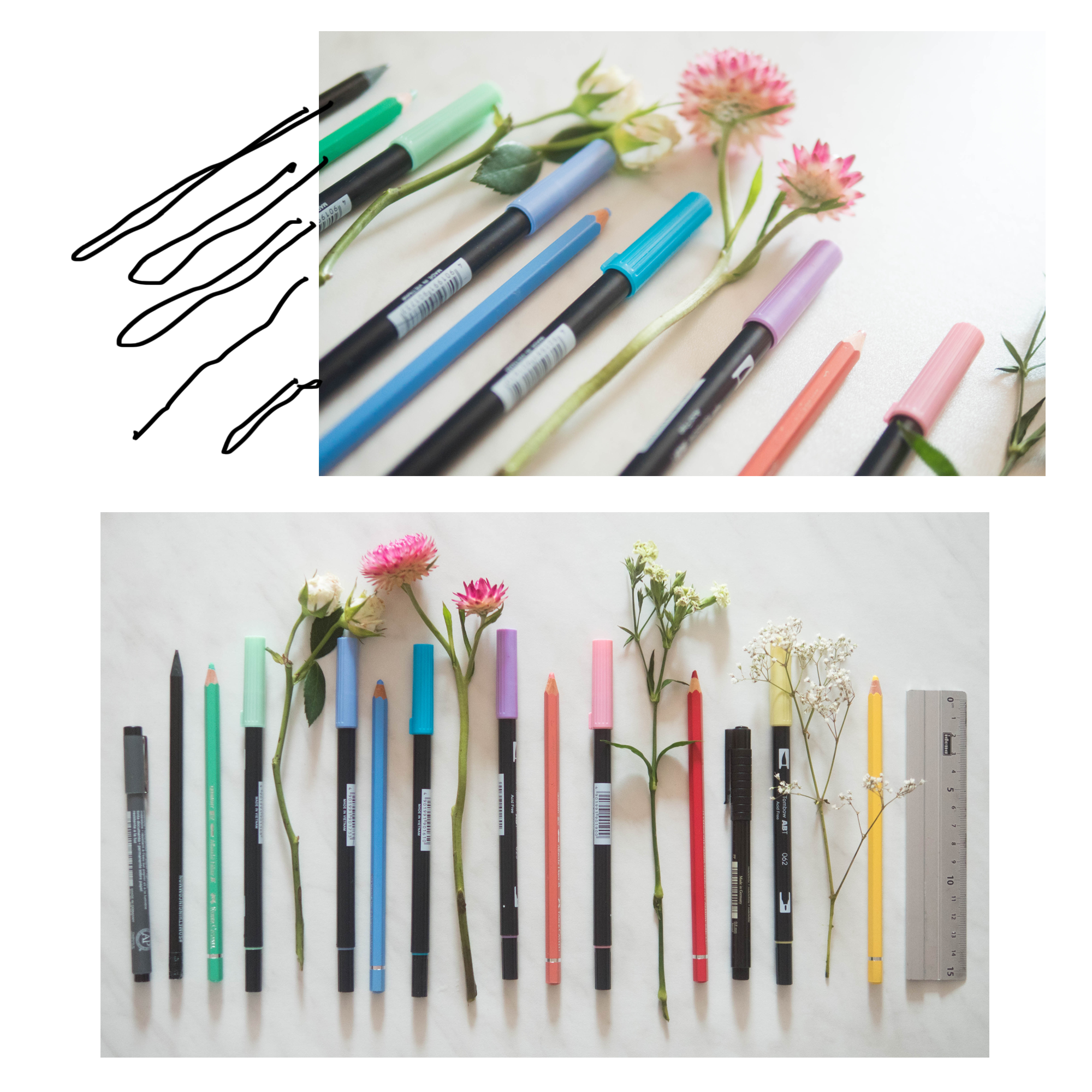 Some Bullet Journal inspiration and layout ideas. This time: My Pencil Collection! #bulletjournal #ideas #layout #inspiration