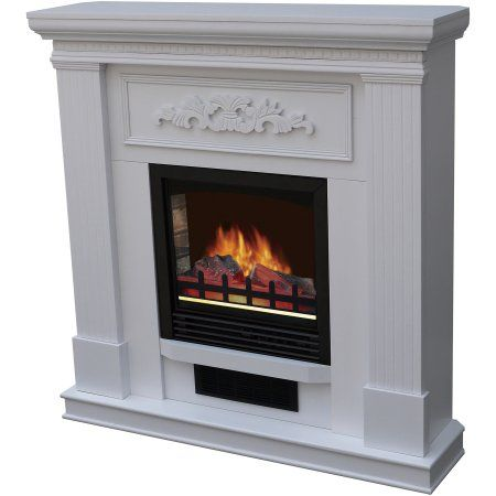 Bold Flame 38 Inch Wall Corner Electric Fireplace In White
