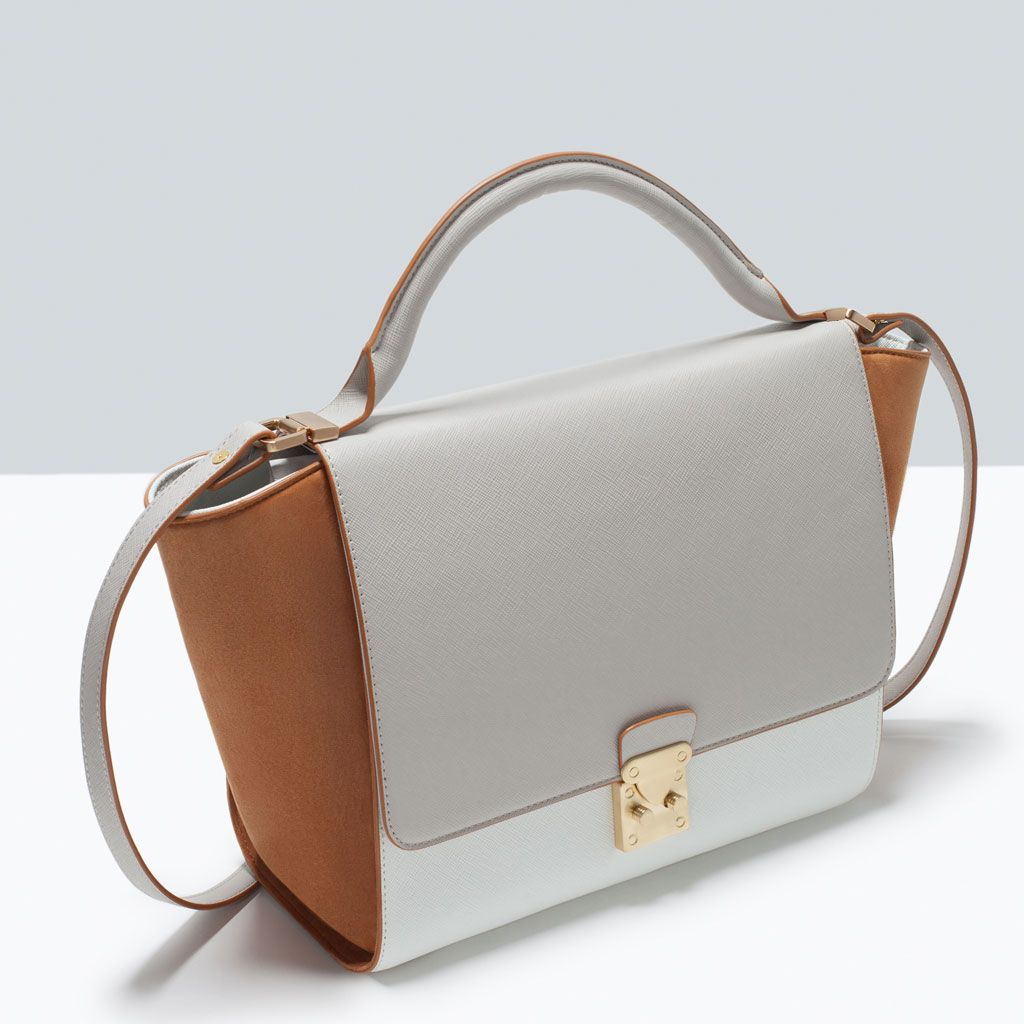 77c386840b2 ZARA - COLLECTION AW15 - COMBINED CITY BAG WITH BUCKLE | Bags under ...