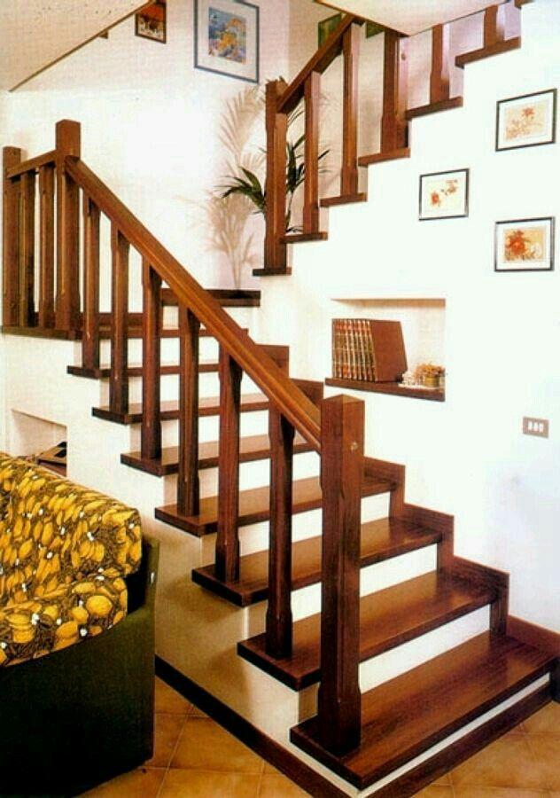 Barandal barandal pinterest barandales escalera y for Escaleras de madera para decorar