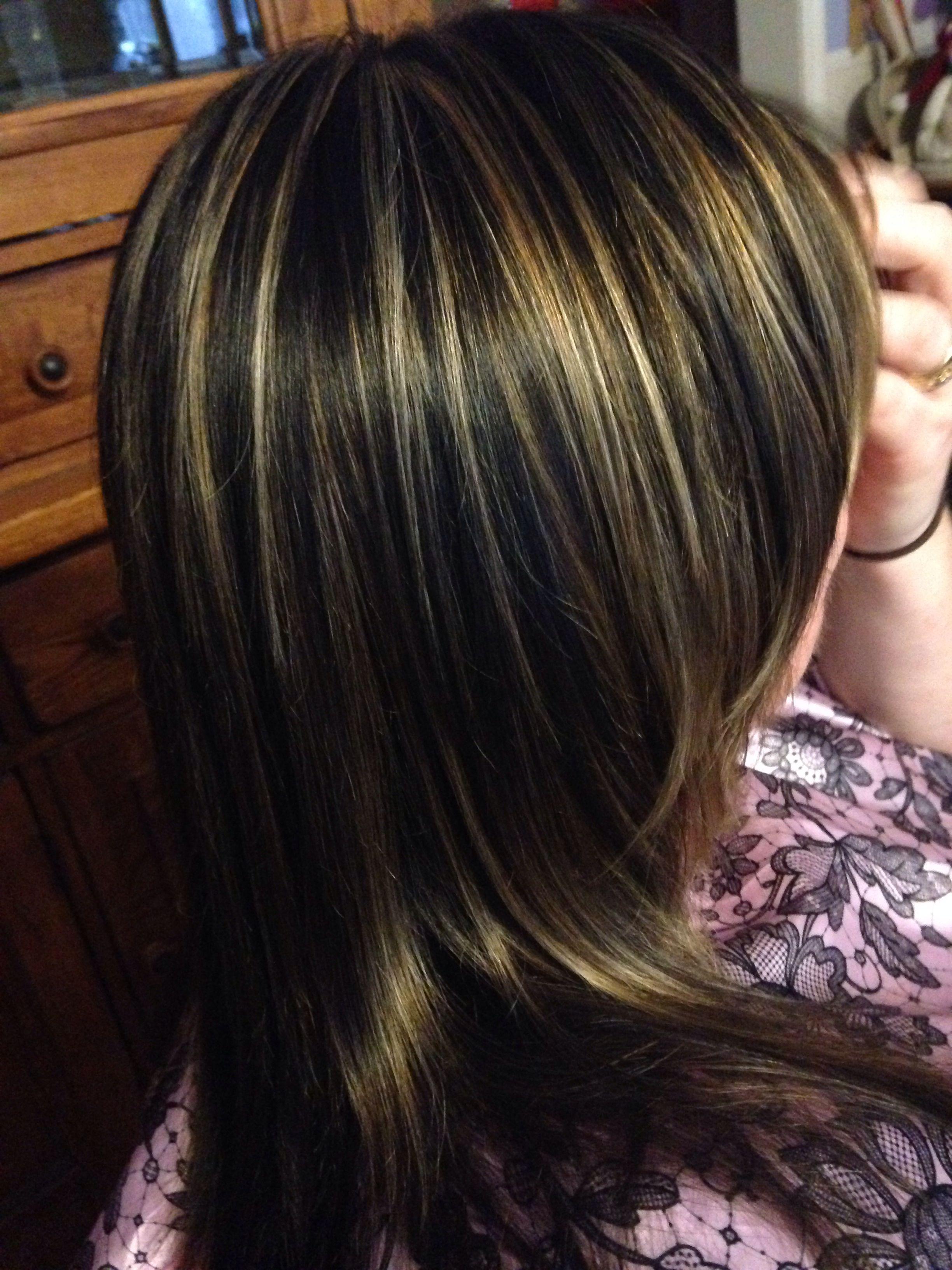 3 Color Hair Foil Dark Brown Medium Brown And Golden