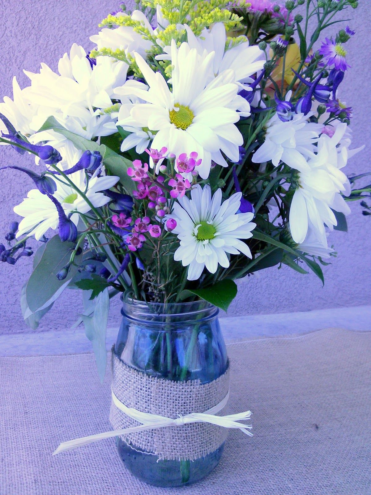 Celebration Flair Wildflower Style Pinterest Blue Mason Jars