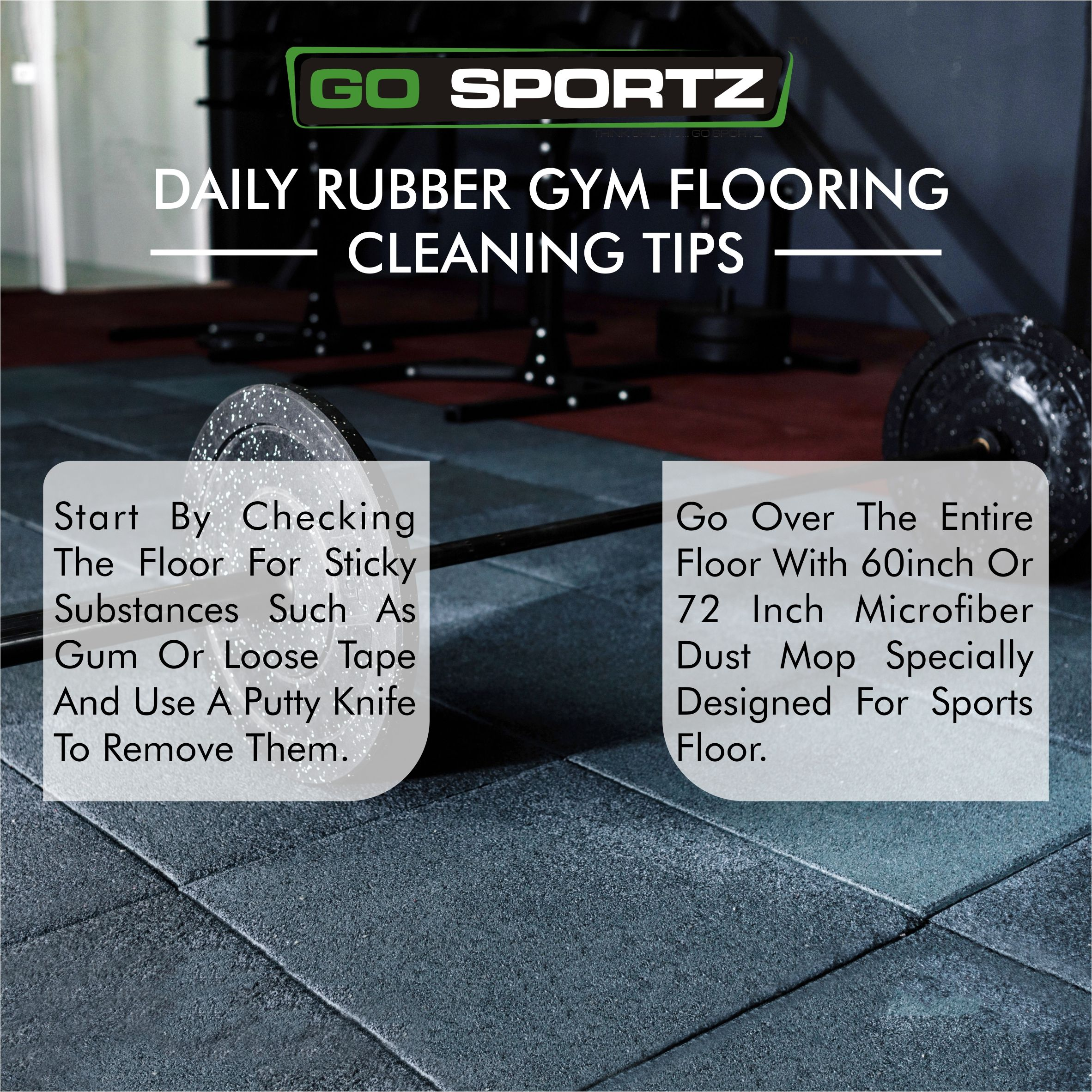 Here are some cleaning tips for your rubber gym flooring