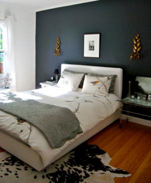 Rich Hague Blue With Bronze Accessories Stunning Blue Bedroom Walls Dark Bedroom Walls