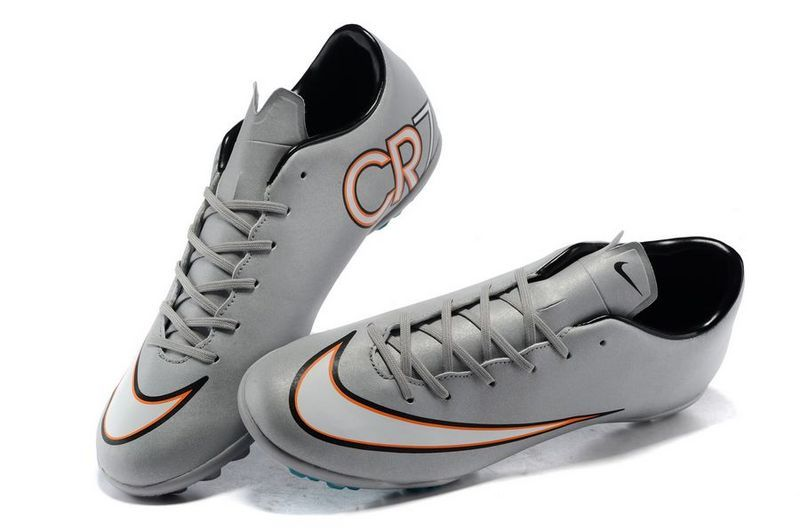 843a74f0458 Affordable Nike Mercurial Superfly CR7 TF Flash Silver White Orange 61.99  Nike Mercurial Superfly V ...