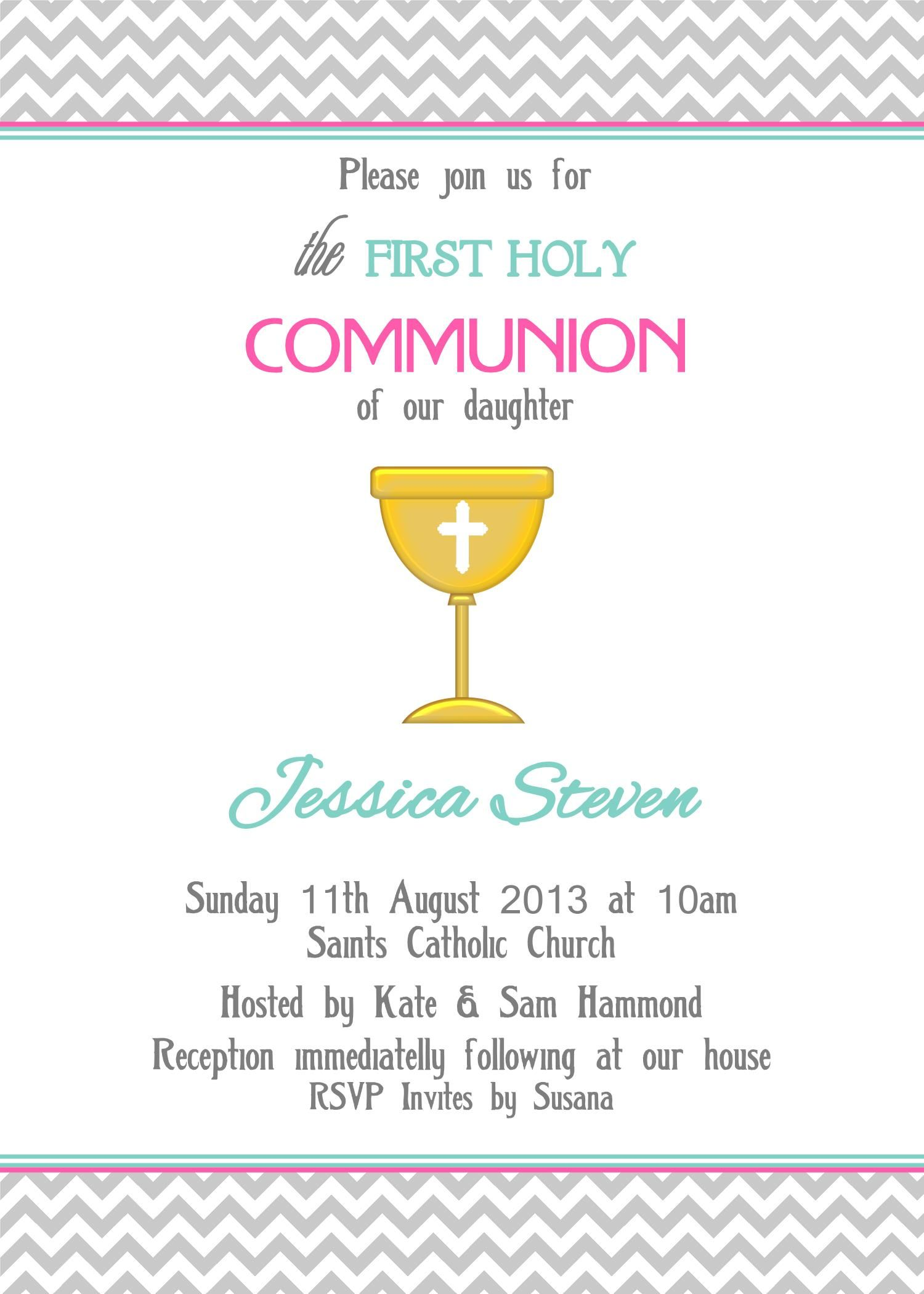 First Holy munion Invite