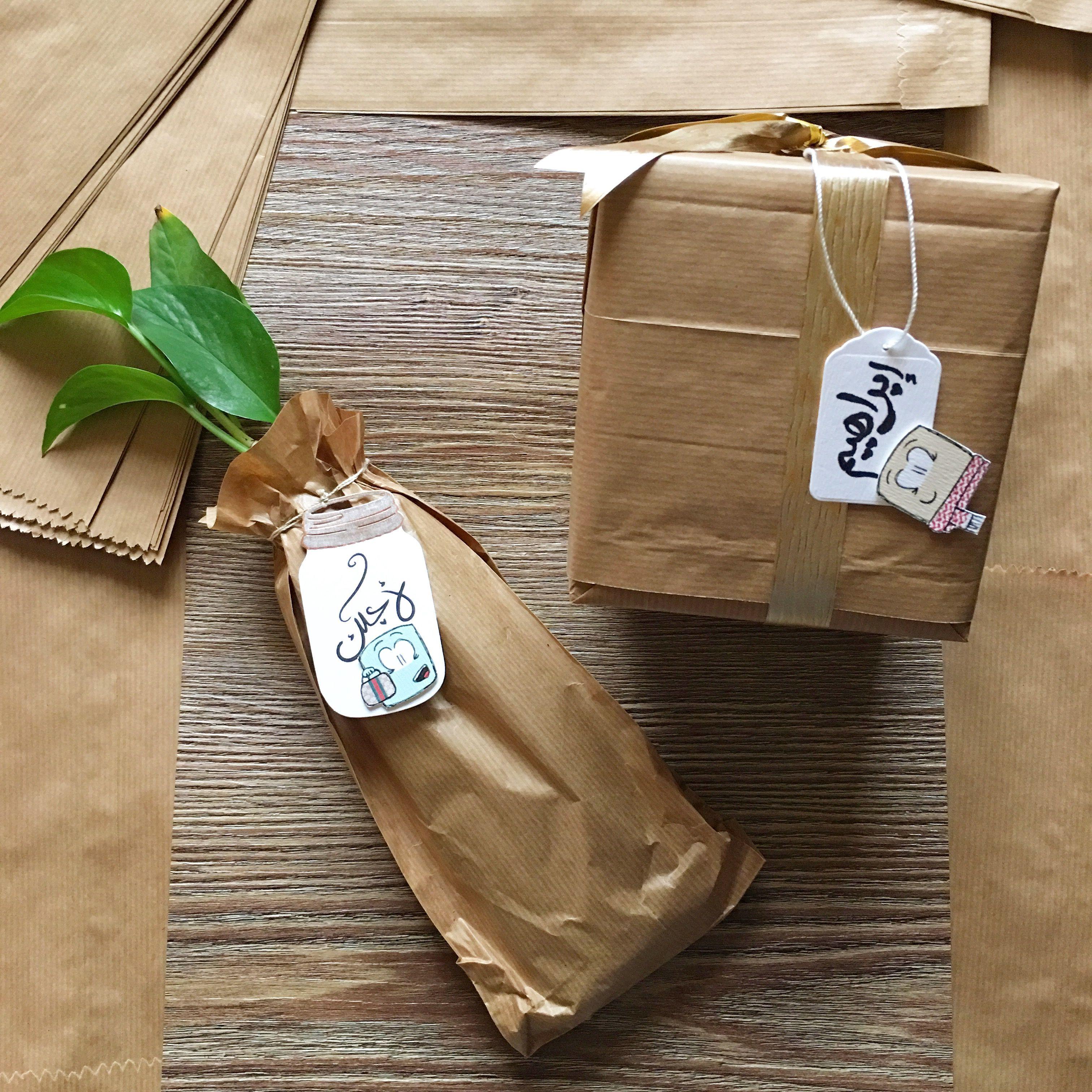 افكار لتغليف هدايا باستخدام الاكياس البنيه Food Coffee Bag Coffee