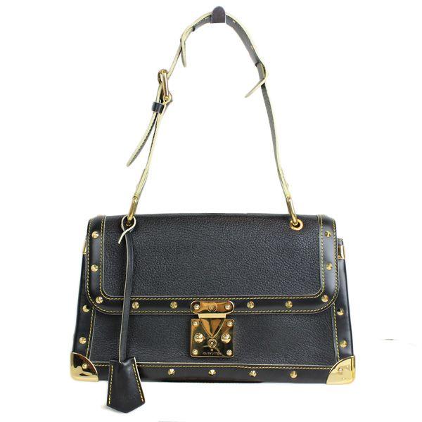 Louis Vuitton Black Suhali Talentueux Goldtone Bag